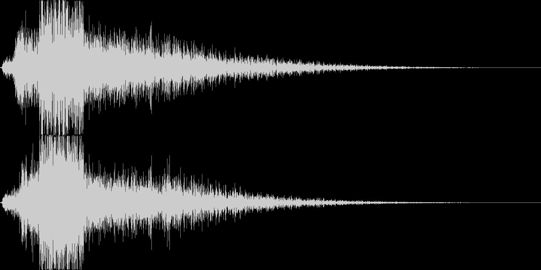 【銃声音017】単発の未再生の波形