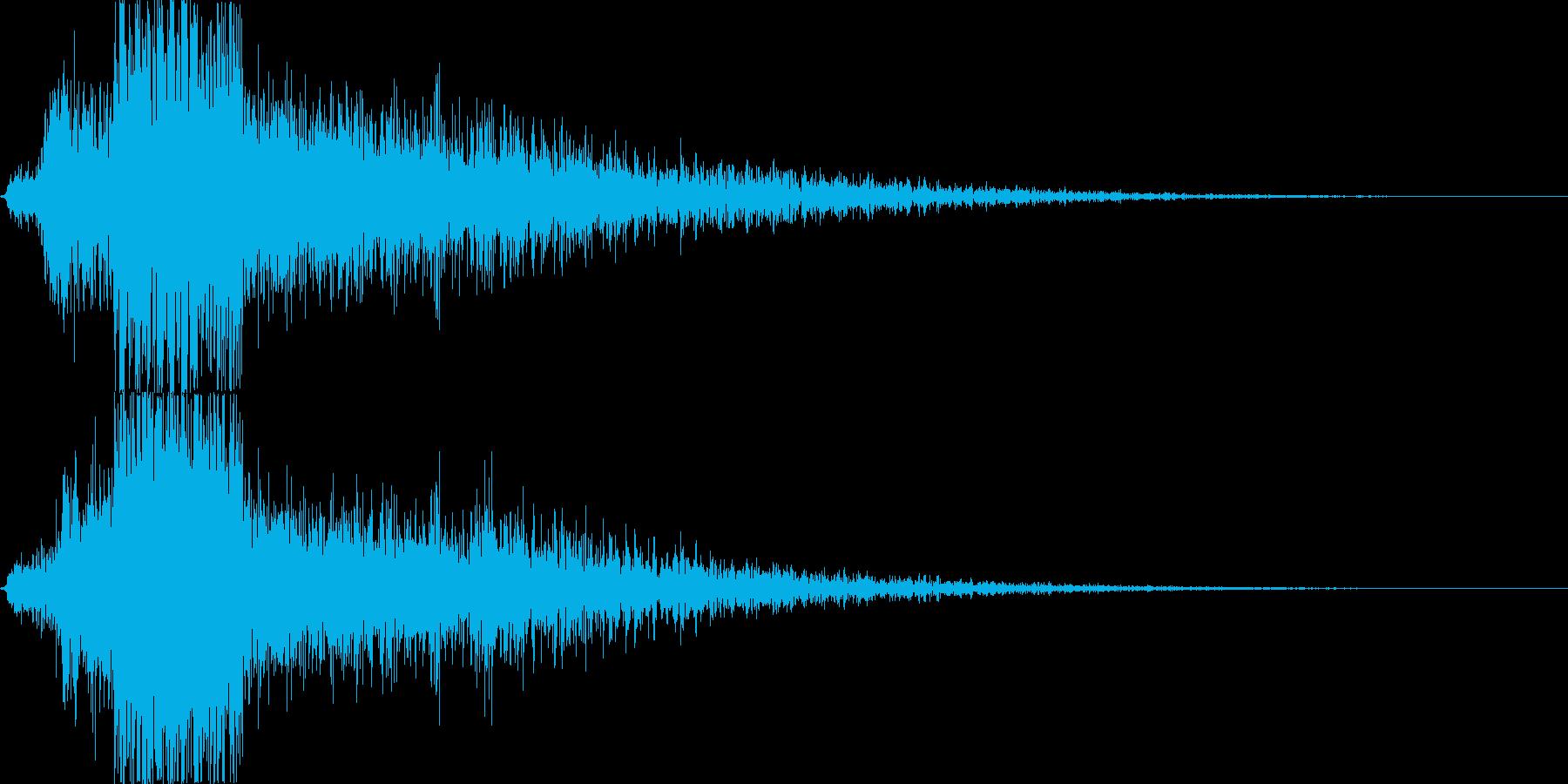 【銃声音017】単発の再生済みの波形