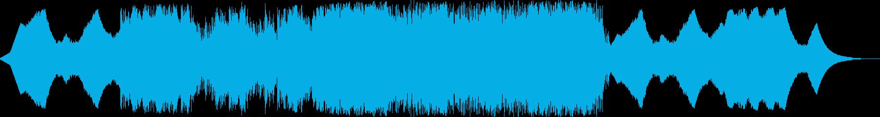 緊迫感から壮大なイメージのエレクトロニカの再生済みの波形