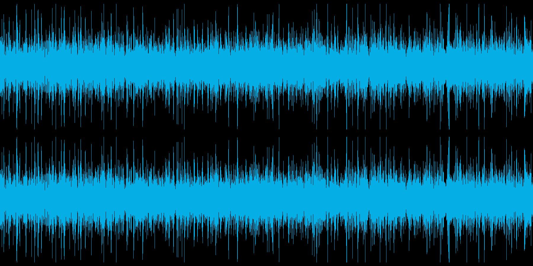 ループ再生用「ぶくぶく」水中を潜行する音の再生済みの波形