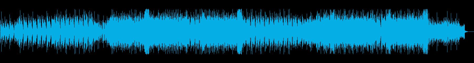 骨太ロック、ダンサンブルなBGMの再生済みの波形