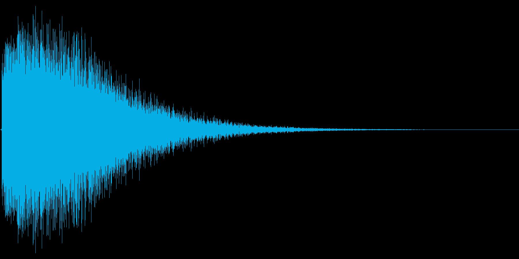 ジャーン。中華・ドラの音の再生済みの波形