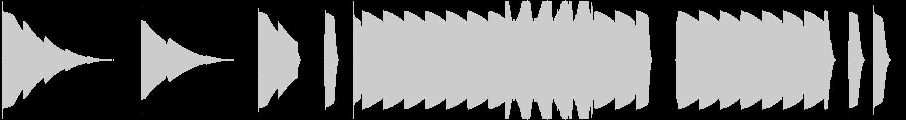 トーンベースリピートの未再生の波形