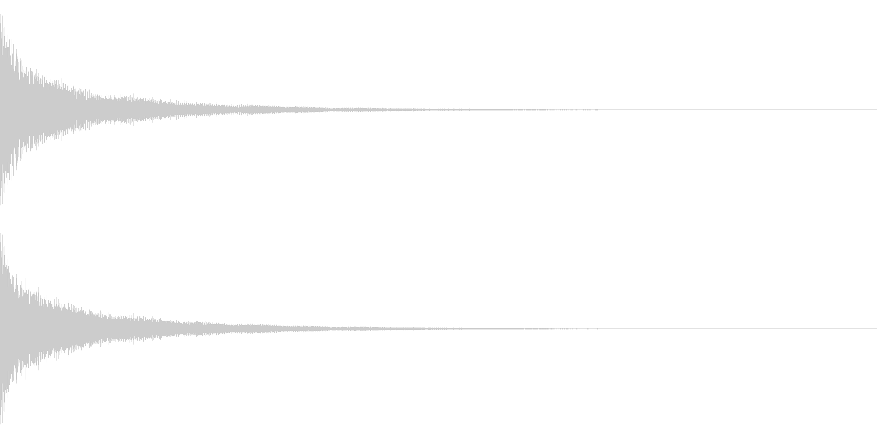 ティーン(金属系)の未再生の波形