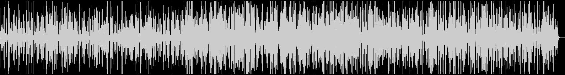 スローテンポの落ち着いたジャズ風BGMの未再生の波形