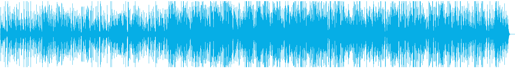 スローテンポの落ち着いたジャズ風BGMの再生済みの波形
