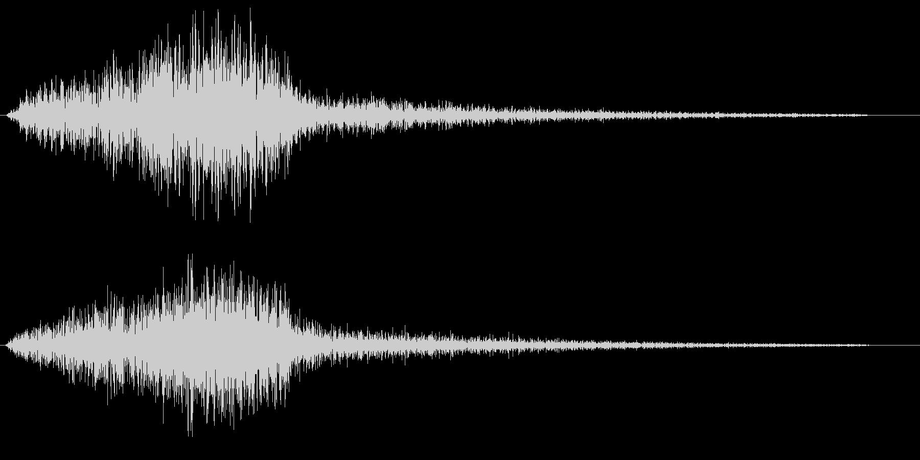 シュワー(圧縮空気が勢いよく出る音)の未再生の波形