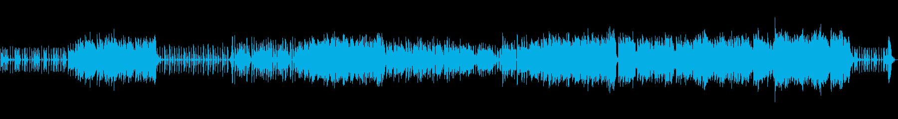 クールな都会的なロックR&B風BGMの再生済みの波形