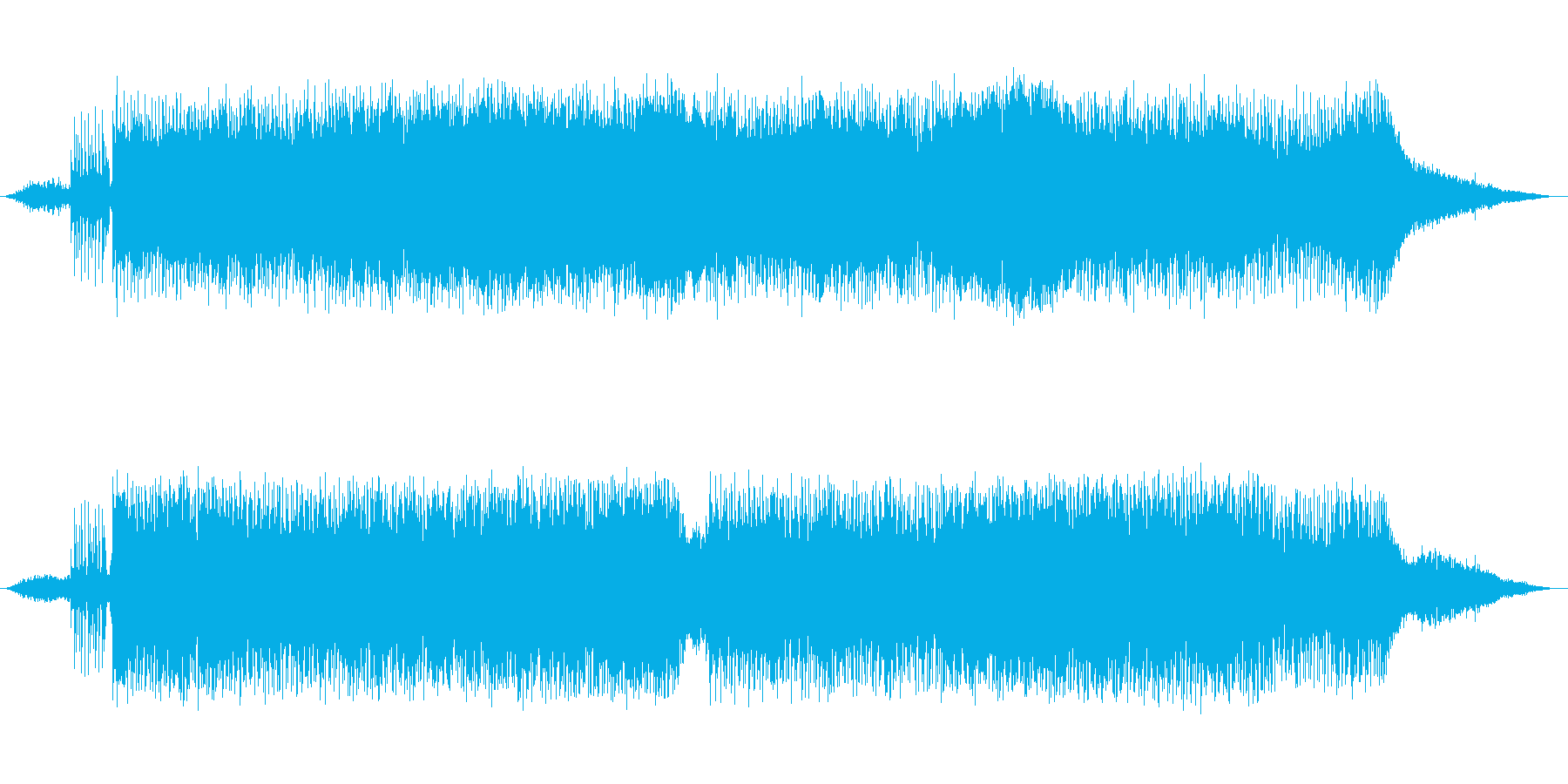 ちょっと不思議なダンスミュージックの再生済みの波形
