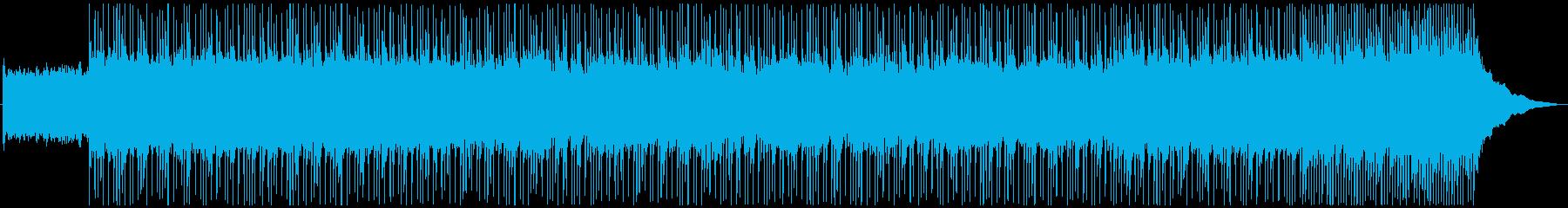 バトル系の熱血なハードロック曲の再生済みの波形