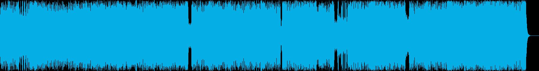 テンポの速いメロディアスなメタルロックの再生済みの波形