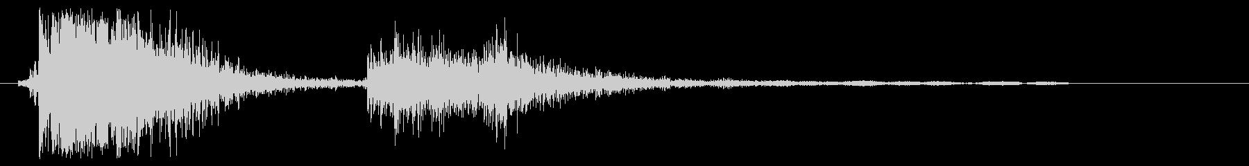 タンタン(弾むような効果音)の未再生の波形