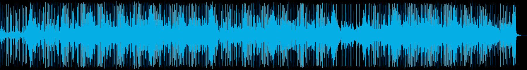 可愛くて爽やかなリズムのポップス曲の再生済みの波形
