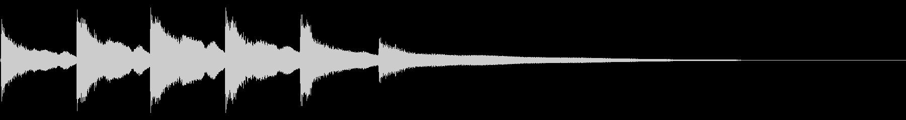 教会の鐘:孤立した呼び出し音を閉じるの未再生の波形