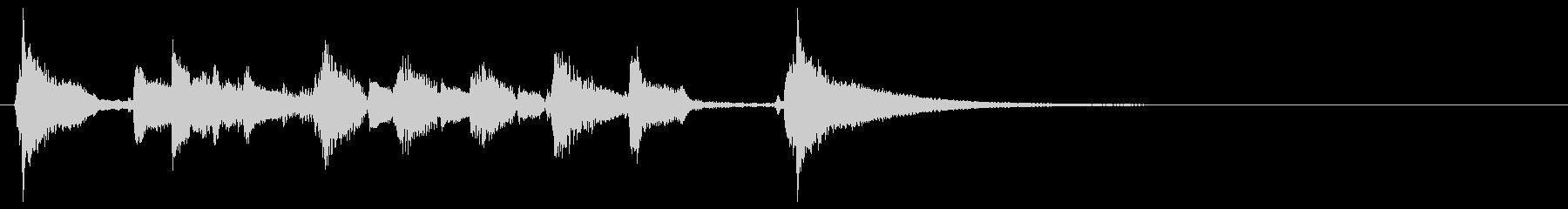 ウクレレの明るいジングルの未再生の波形