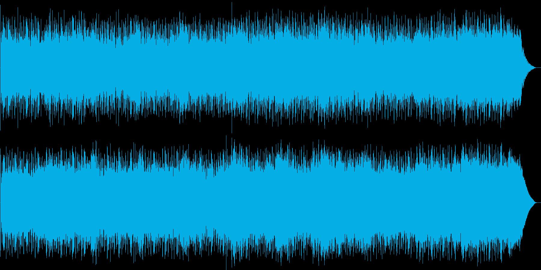 楽しげなキラキラとしたエレクトロニカの再生済みの波形