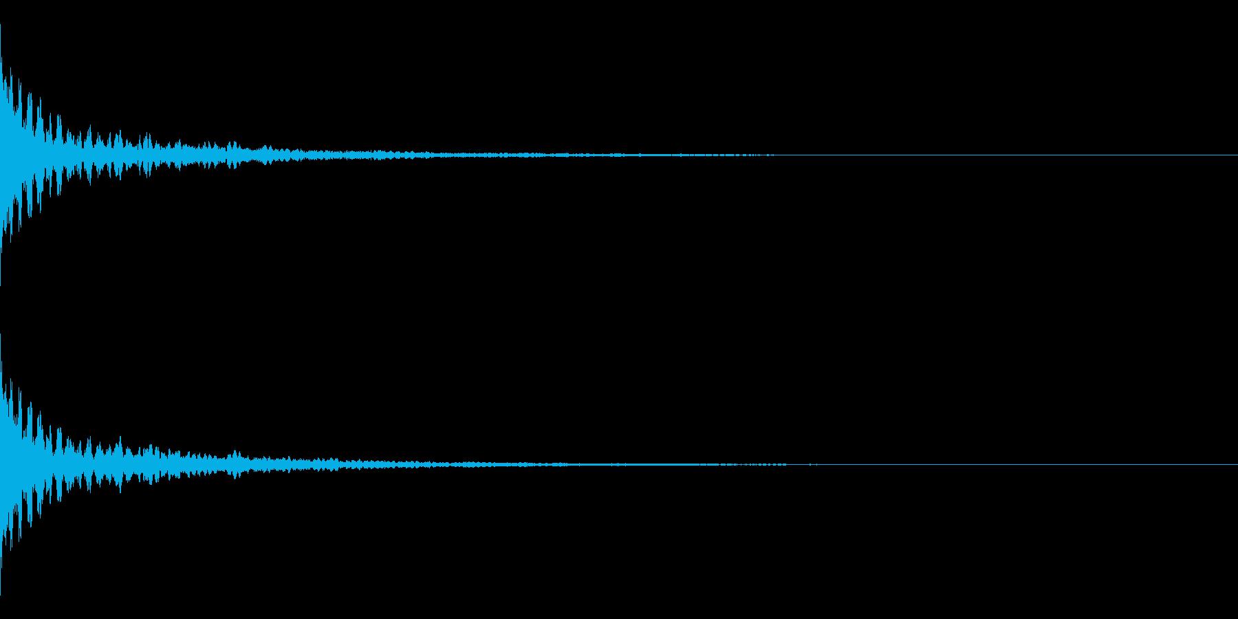 ホラー系アタック音28の再生済みの波形