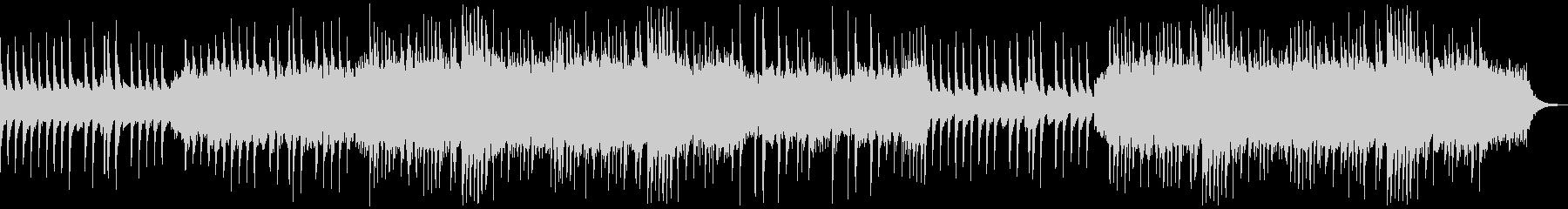歪んだピアノとコーラスで構成の不気味な曲の未再生の波形