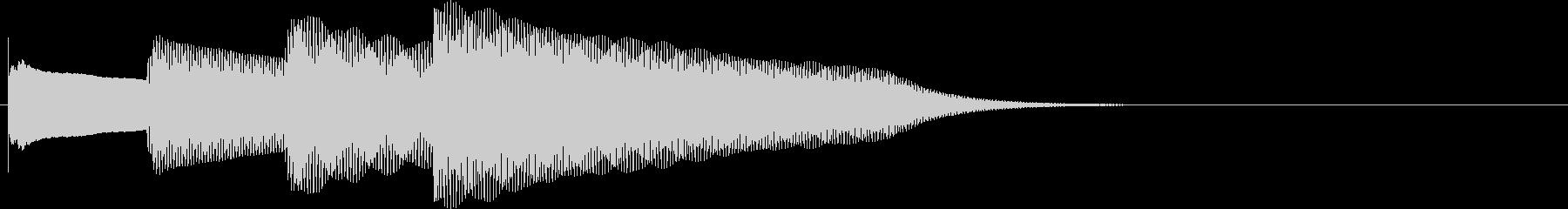 ピンポンパンポン呼び出し時の上向形。鉄琴の未再生の波形