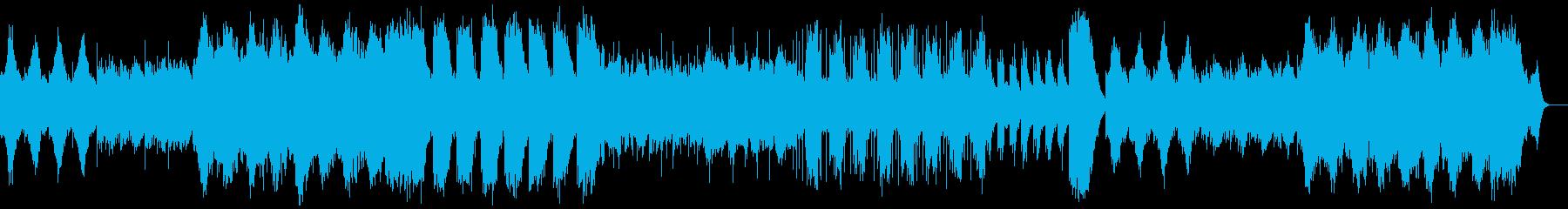 宇宙的なシンセサイザーのインストの再生済みの波形