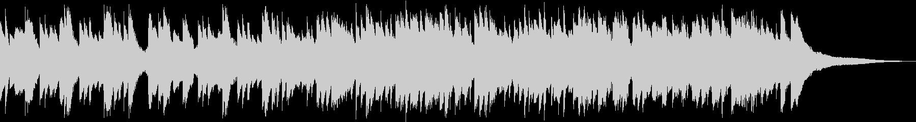 ピアノと鉄琴のメロディが綺麗なBGMの未再生の波形