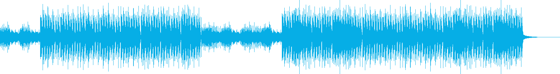近未来的EDMハウス・激しいミステリアスの再生済みの波形
