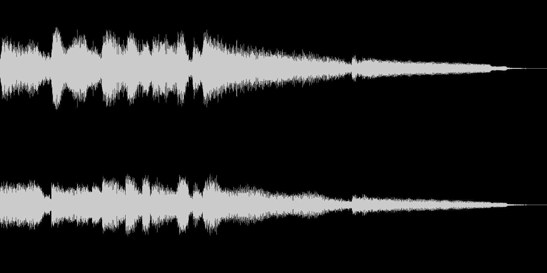 【10秒強】ジャズギターのコードとソロの未再生の波形