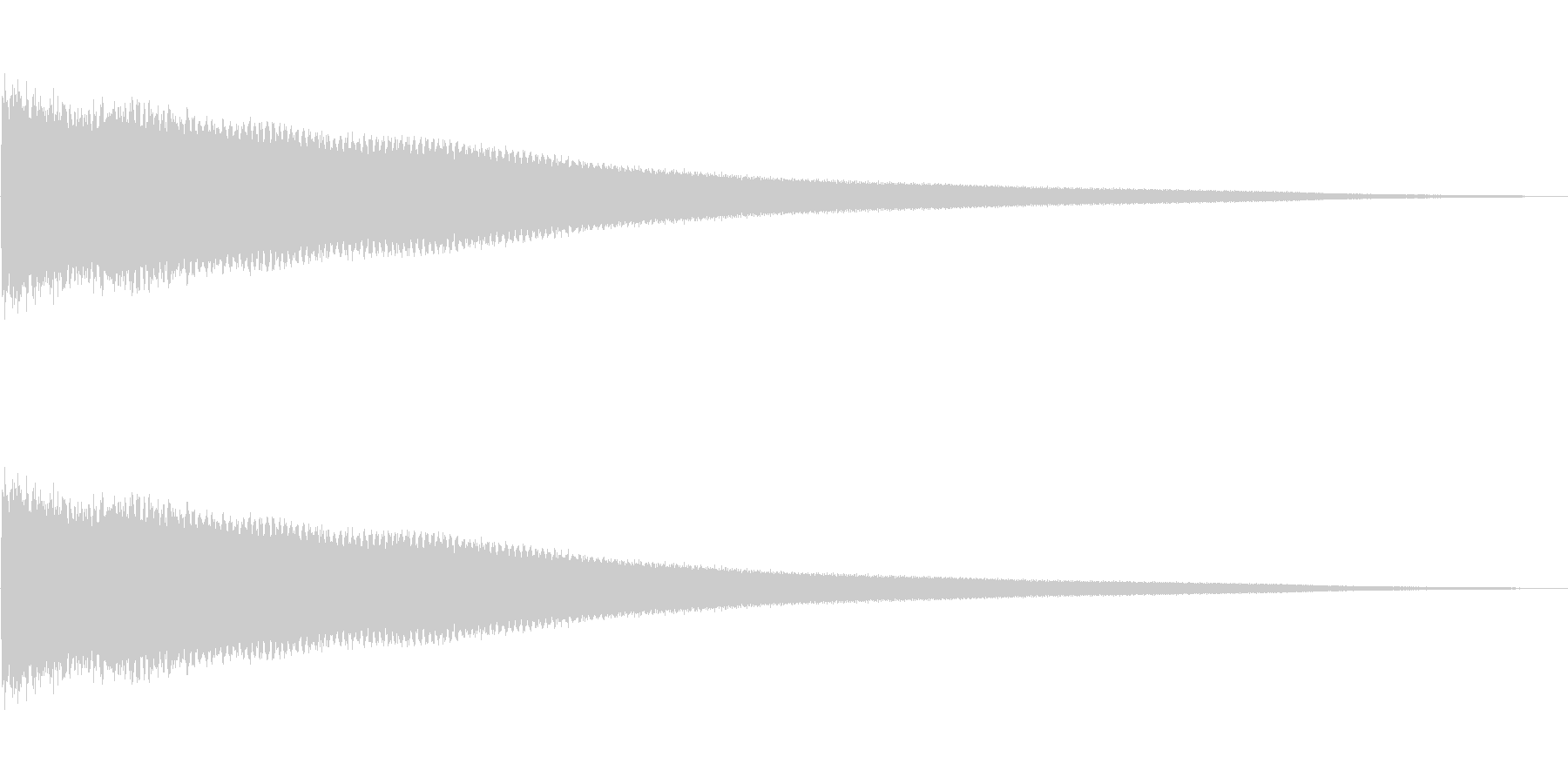 チーン(残念)の未再生の波形