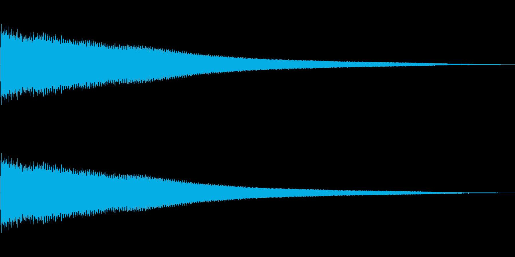 チーン(残念)の再生済みの波形