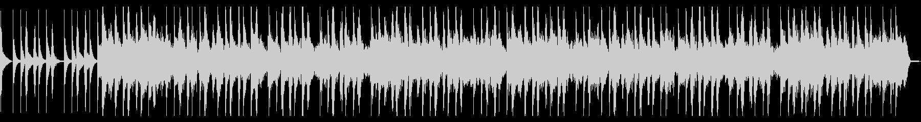 マリンバとオルガンのほのぼのとした楽曲の未再生の波形