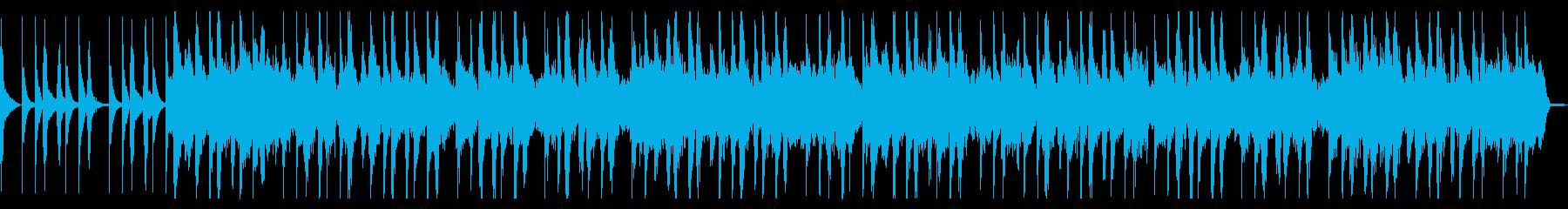 マリンバとオルガンのほのぼのとした楽曲の再生済みの波形