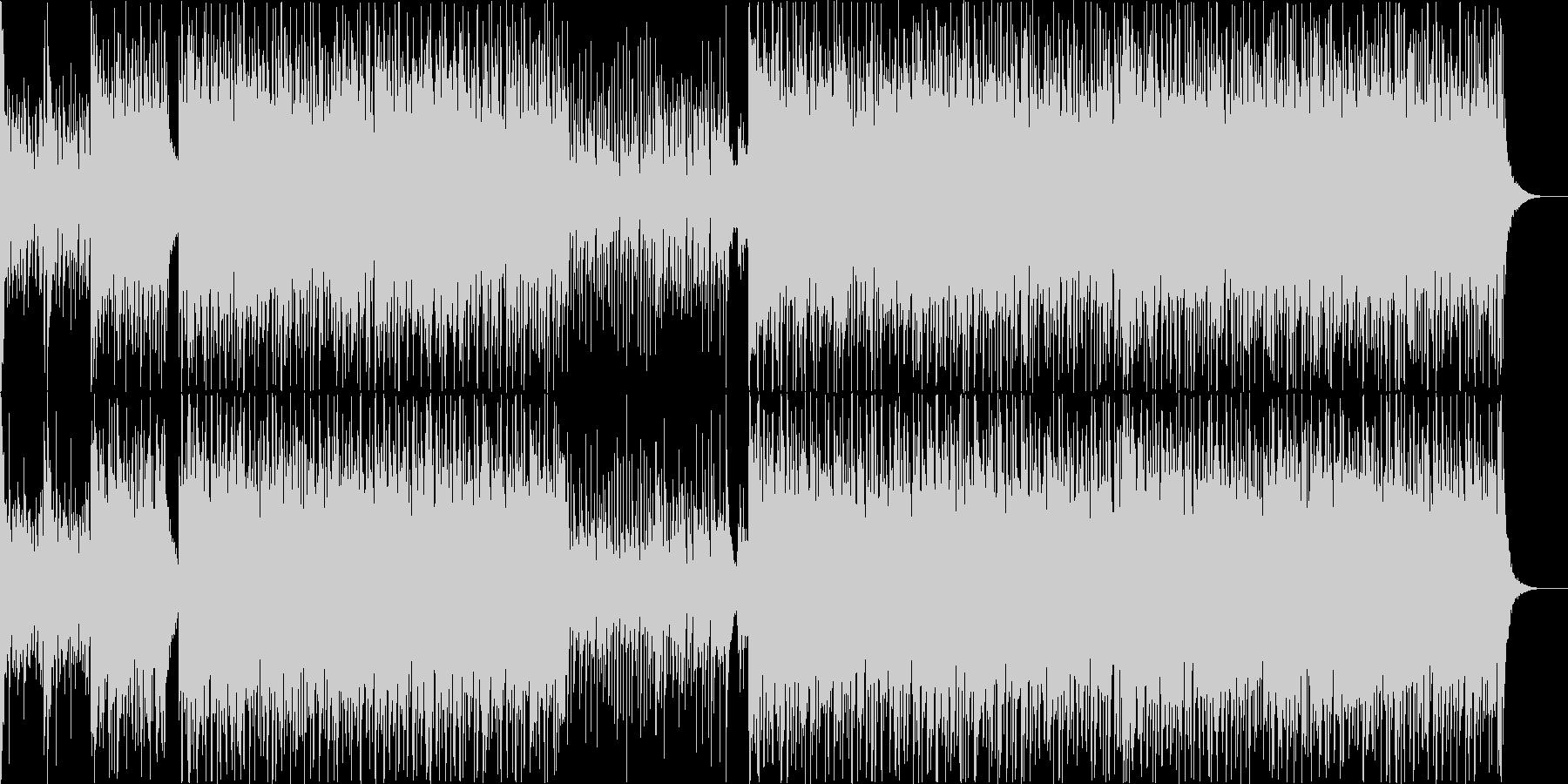 和太鼓と和楽器の祭り風アンサンブルの未再生の波形