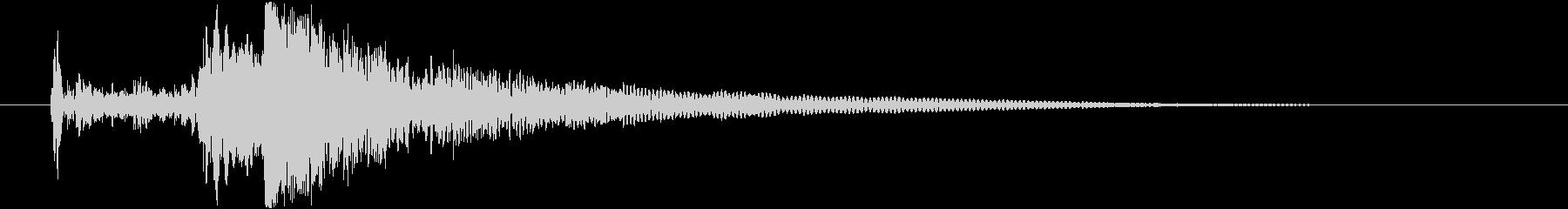ゴポゴポゴポ 潜水艦がもぐる音の未再生の波形