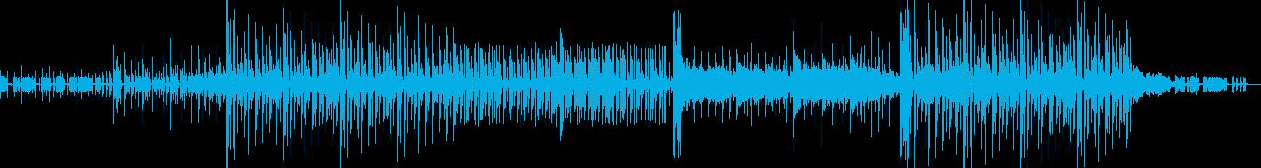 テンションの上がるエレクトロックなBGMの再生済みの波形