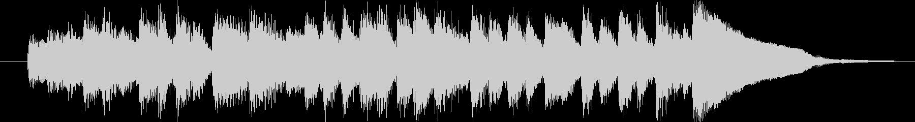 クラシック調のコミカルホラーなジングルの未再生の波形