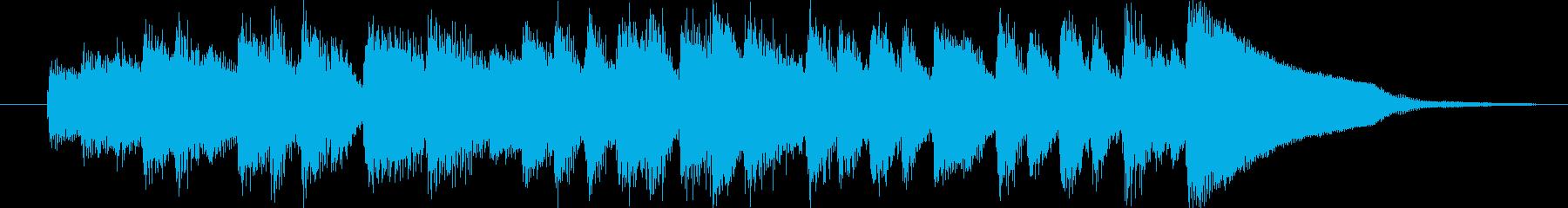 クラシック調のコミカルホラーなジングルの再生済みの波形