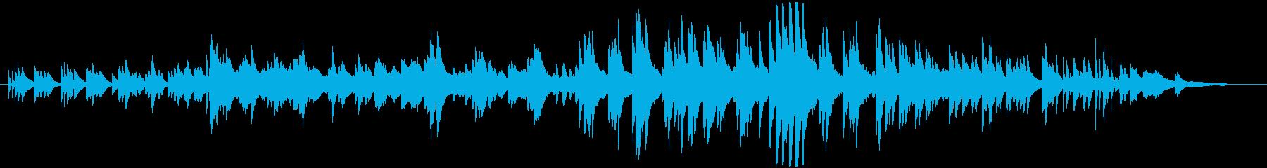 切ない美メロ旋律のピアノインスト曲の再生済みの波形