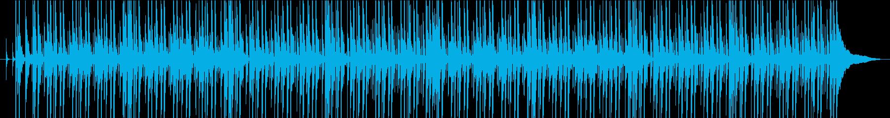 チュートリアルに使える軽快なBGMの再生済みの波形