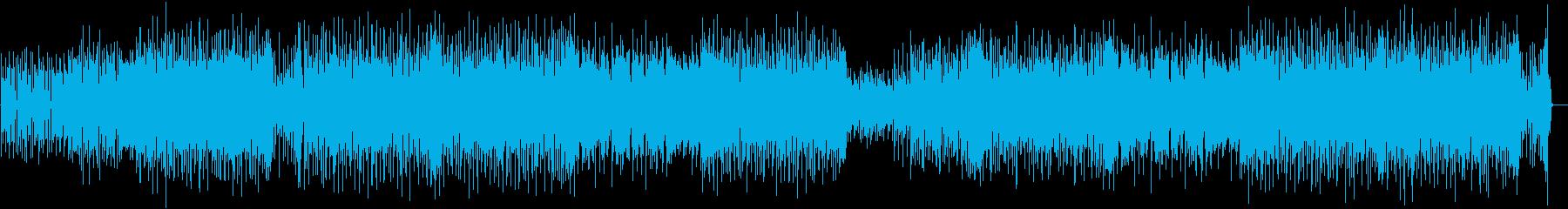 おしゃれで都会的なディスコ風BGMの再生済みの波形