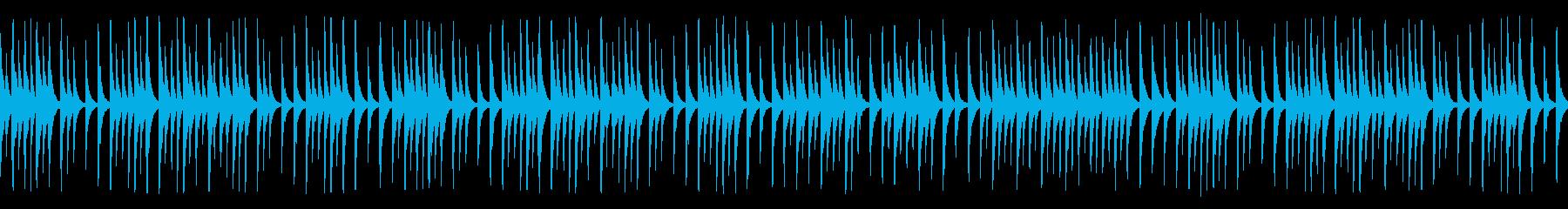 料理や教育教養系動画に合う木琴(ループの再生済みの波形