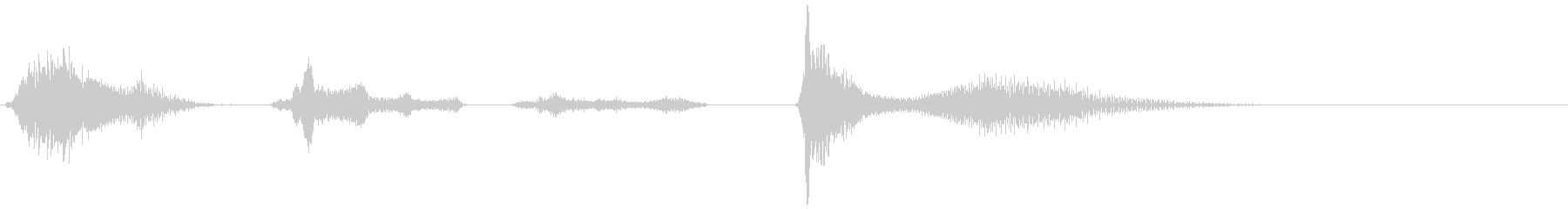 ワントゥースリーポンの未再生の波形