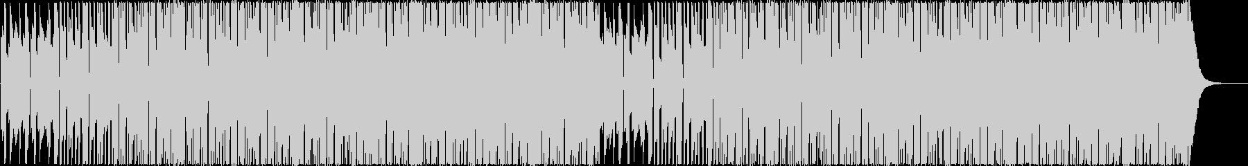ミドルテンポの都会的な4つ打ちエレクトロの未再生の波形