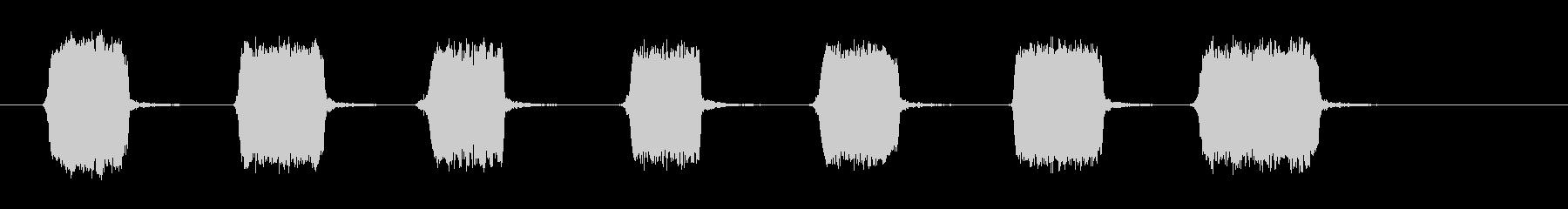 犬のhist:いくつかのクイック、...の未再生の波形
