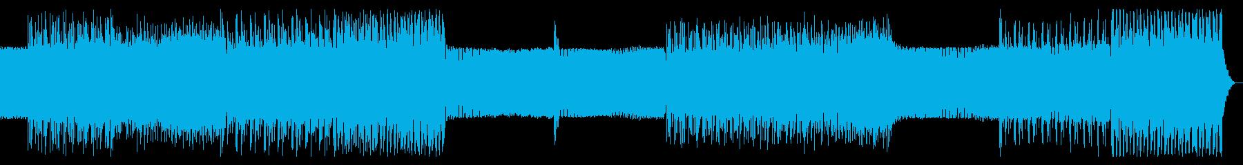 シンプルなアルペジオのテクノ11の再生済みの波形