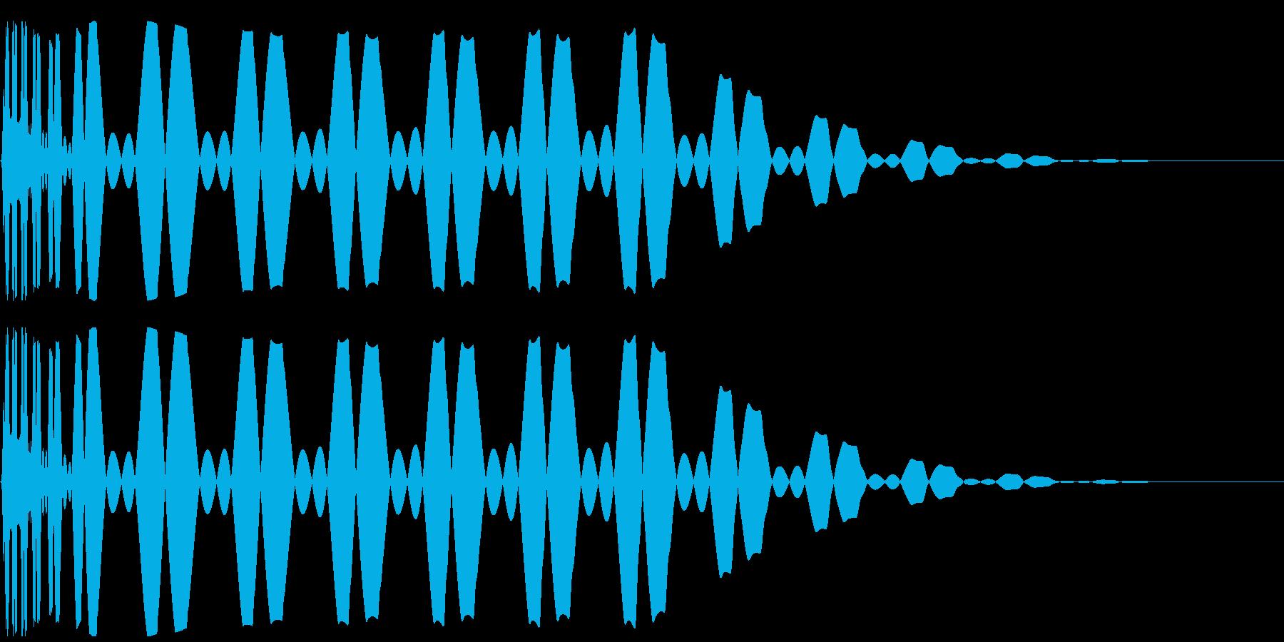 キック/ドラム/デジタル/Key-Aの再生済みの波形