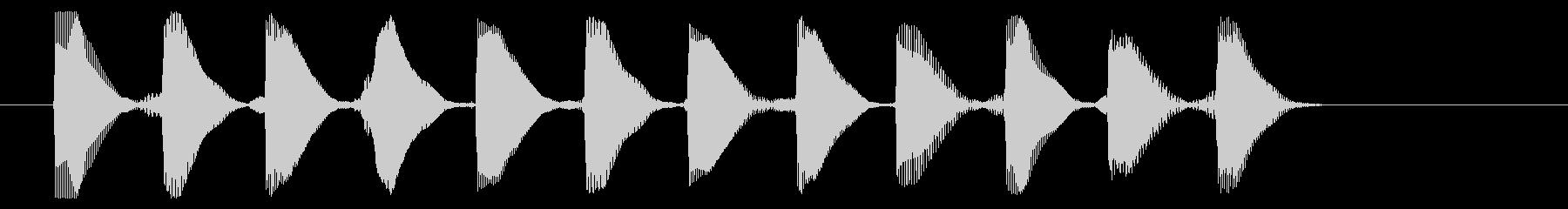 8ビット風システム音-16-2_dryの未再生の波形