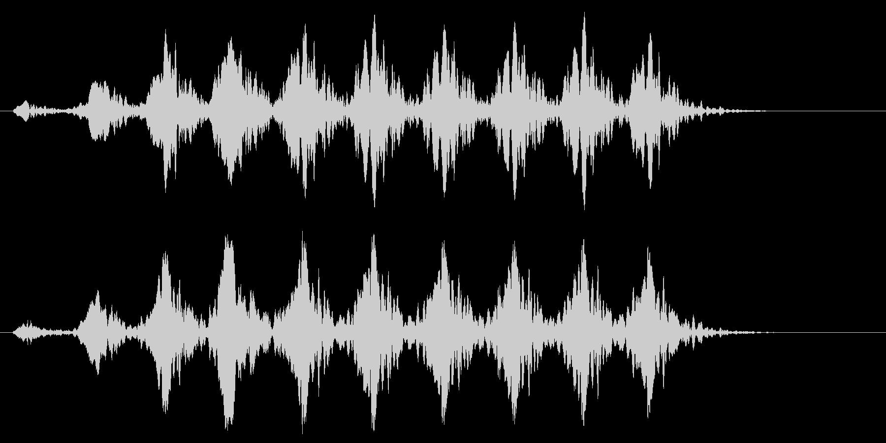 こおろぎの鳴き声_その2の未再生の波形