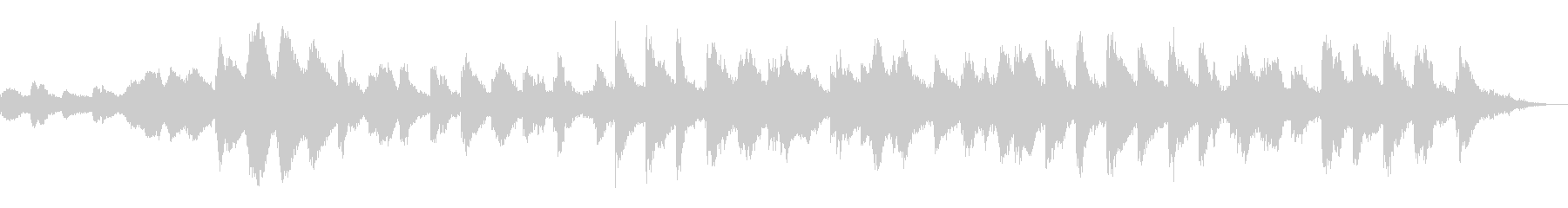 恐怖ホラー・サスペンス現代音楽風ピアノ曲の未再生の波形