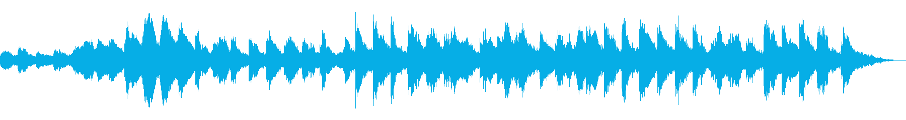恐怖ホラー・サスペンス現代音楽風ピアノ曲の再生済みの波形