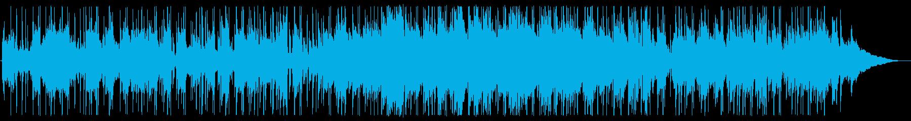 ゆったり爽やかな風に吹かれるような曲の再生済みの波形